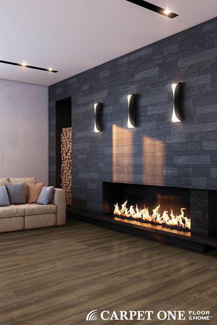 Cozy Modern Fireplace And Cozy Modern Vinyl Floors Luxury Vinyl