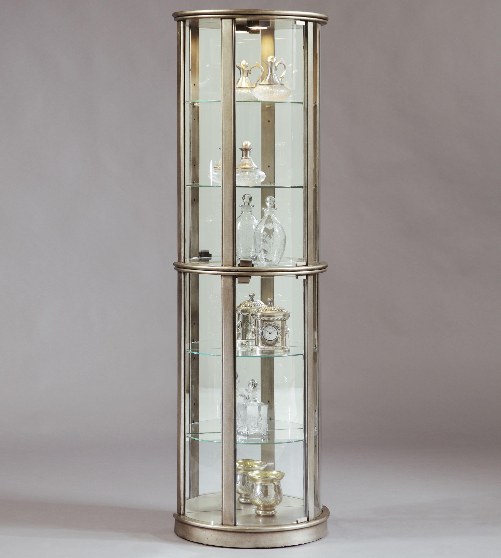 Curios Platinum Glass Door Curio Cabinet by Pulaski Furniture