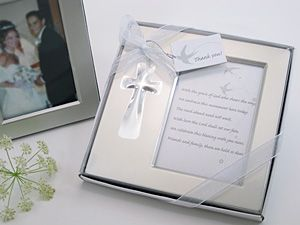 bless this day cross photo frame favor in gift box from hotrefcom