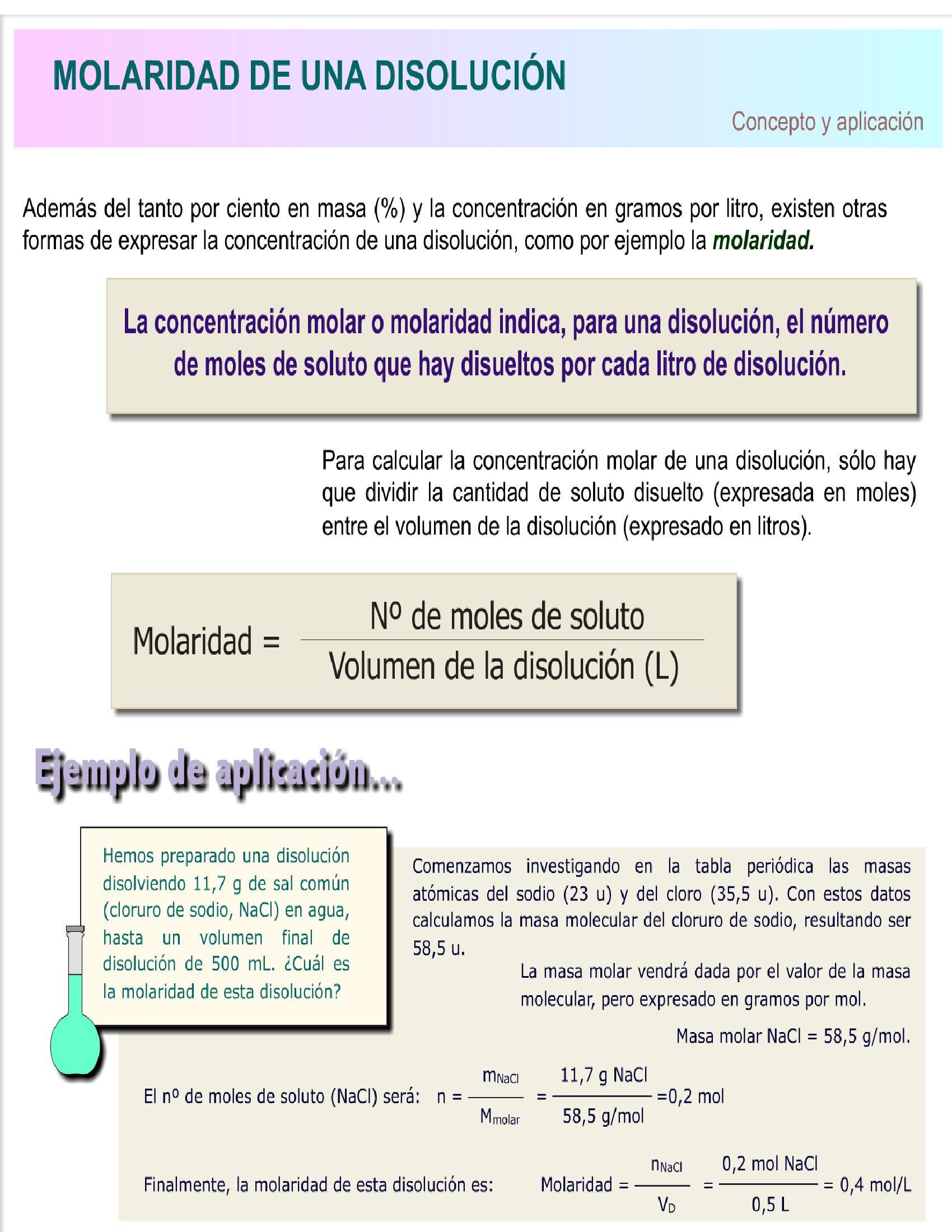 Pin De Claudia Garzon En Soluciones Molaridad Anatomia Patologica Ciencias De La Salud Química