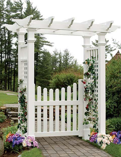 Cottage Picket Arbor Gate Gate Only Garden Archway Garden