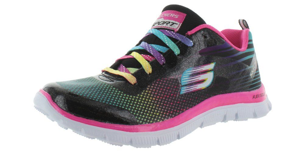 Microburst-Showdown, Chaussures de Running Femme, Gris (Grey/Blue), 39 EUSkechers