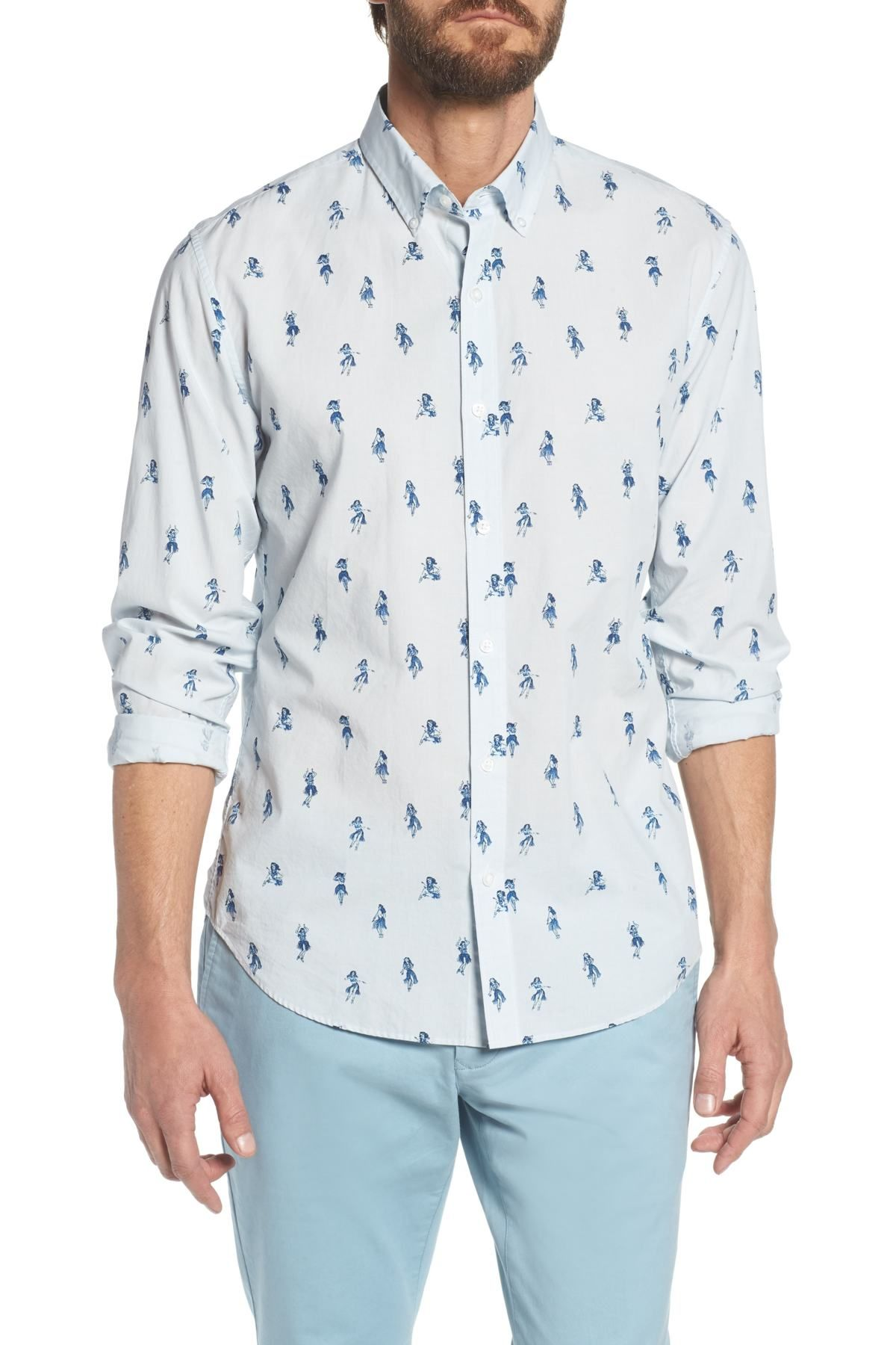 a9a3ad14cc1a Bonobos - Summerweight Slim Fit Hula Print Sport Shirt is now 0-60% off.  Free Shipping on orders over  100.