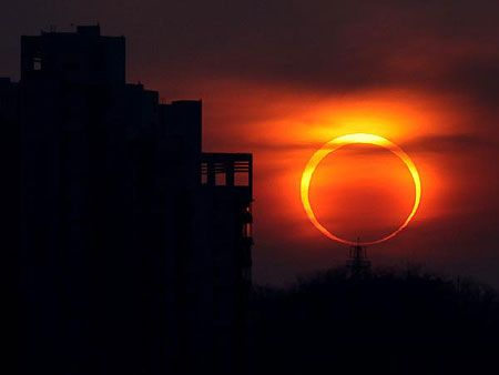 Solar eclipse, May 2012.