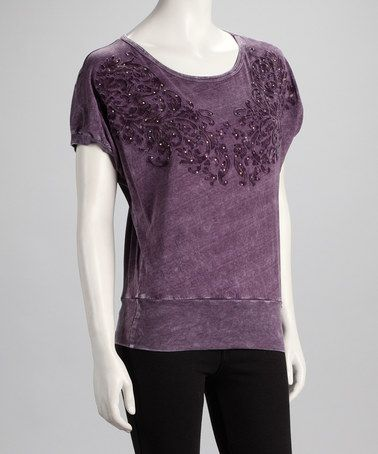 Take a look at this Purple Leaf Dolman Tee by Katydid Collection on #zulily today!