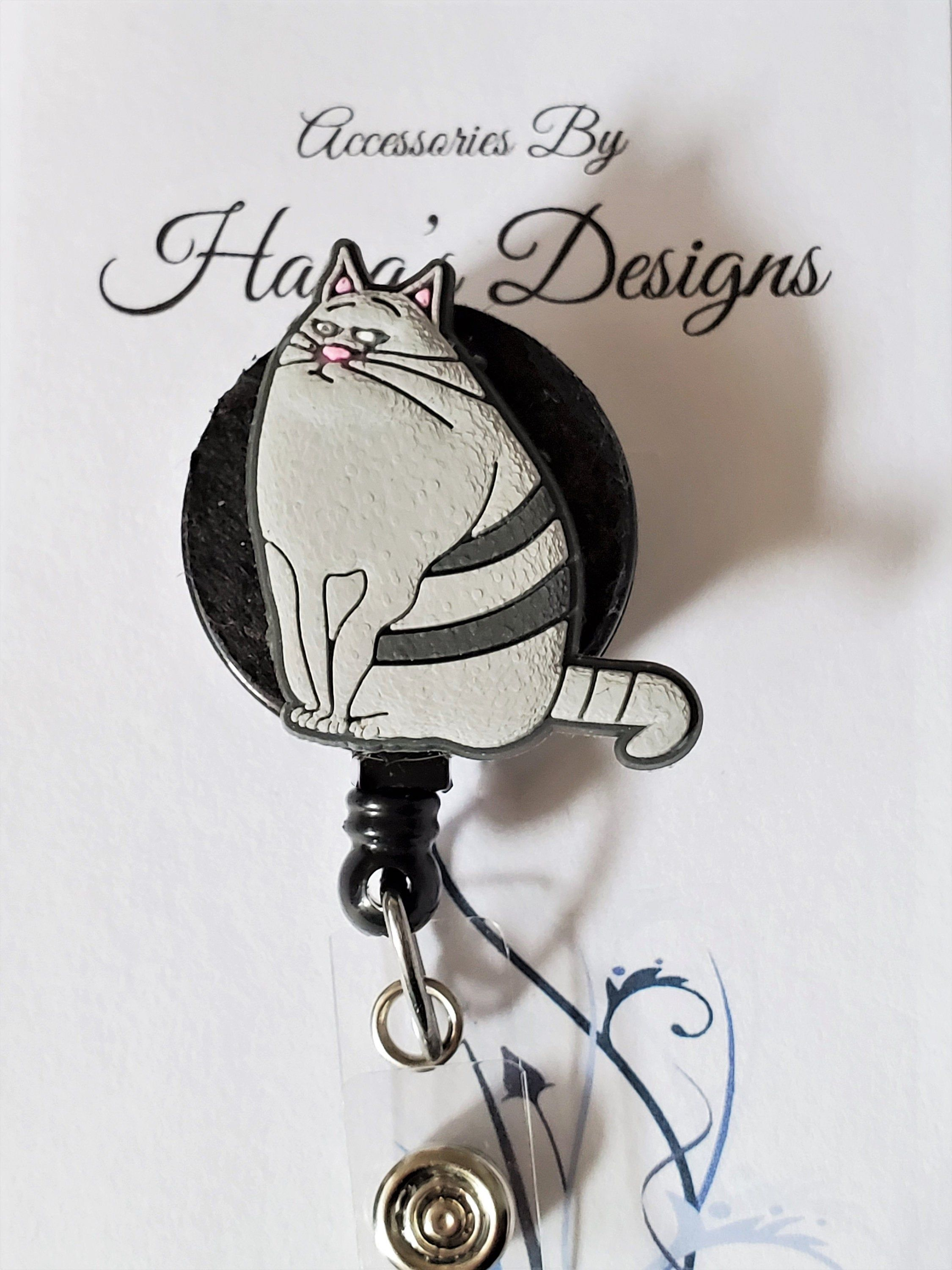 Chloe The Cat Retractable Badge Reel, Vet Tech, Nurse