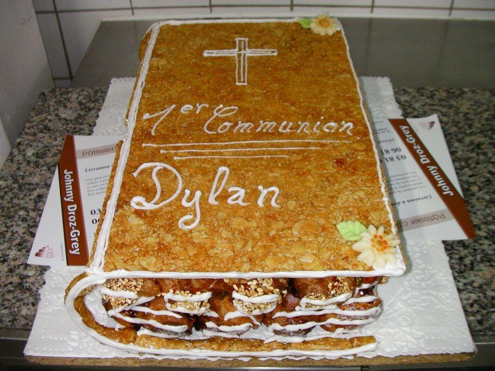 Gateau de communion garcon