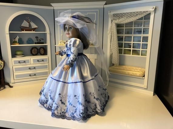 New - Victorian Dress for 18 American Girl Doll with Accessories #dollvictoriandressstyles