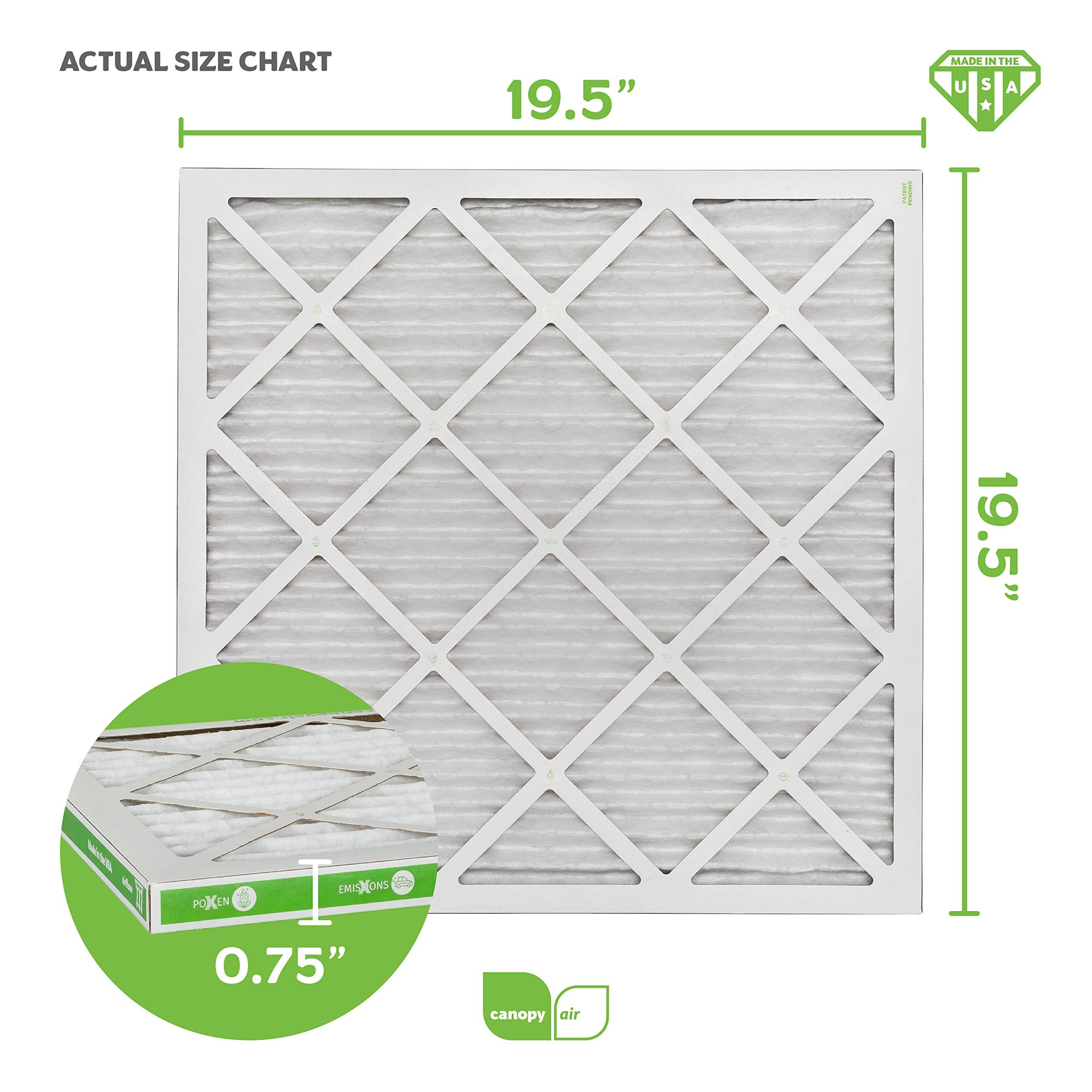 Canopy Air 20x20x1, Allergen AC Furnace Air Filter, MERV