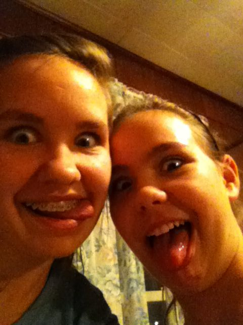Sisters acting crazy on my iPod!!!! Lol