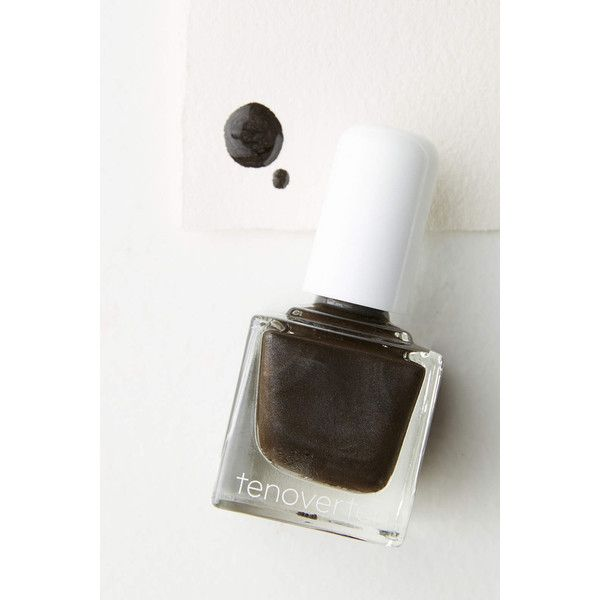 Tenoverten Nail Polish ($13) ❤ liked on Polyvore featuring beauty products, nail care, nail polish, dark grey and shiny nail polish