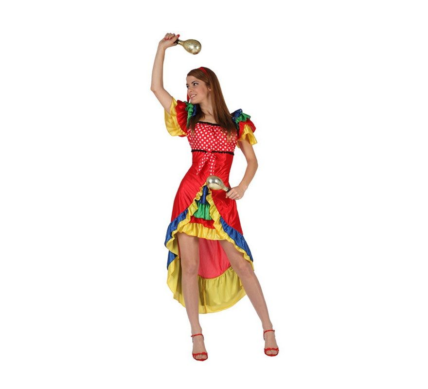 14e9f25b3 Disfraz de Rumbera para mujer. Talla 2 ó talla Standar M-L 38/42 ...