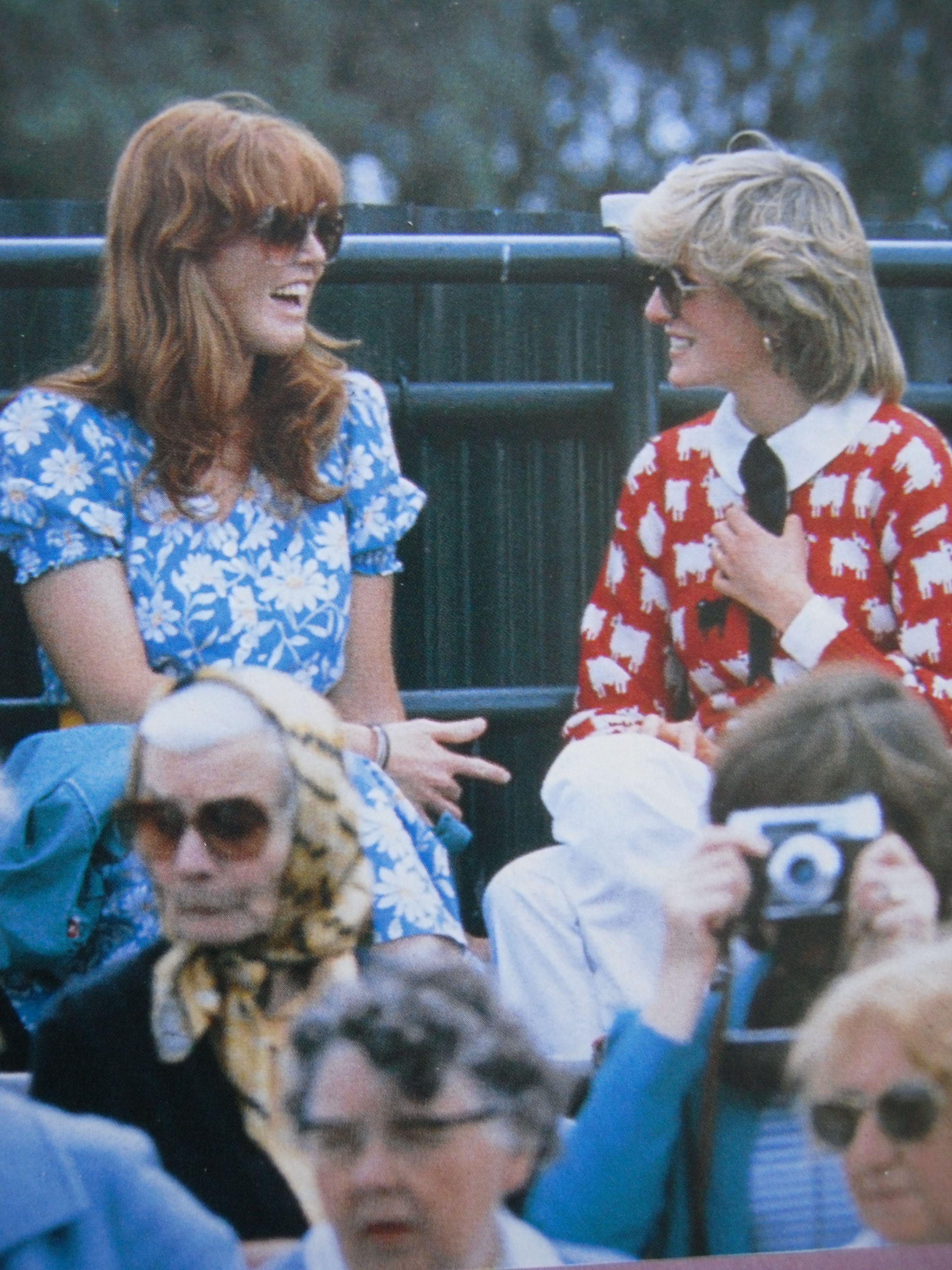 June 12, 1983 Princess Diana & her friend, Sarah Ferguson