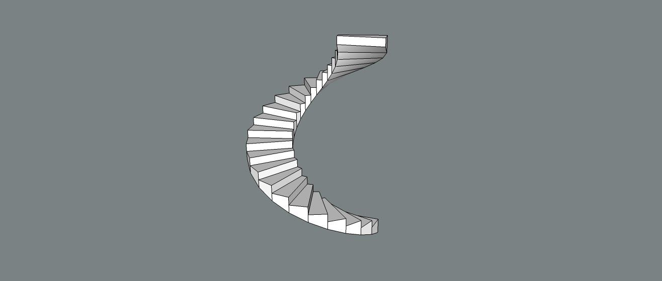 Sketchup Tutorial : How to make Spiral Stairs in Skecthup