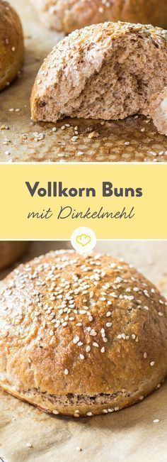 Full grain ahead! Burger buns from rye and wholemeal spelled flour   - Brot -