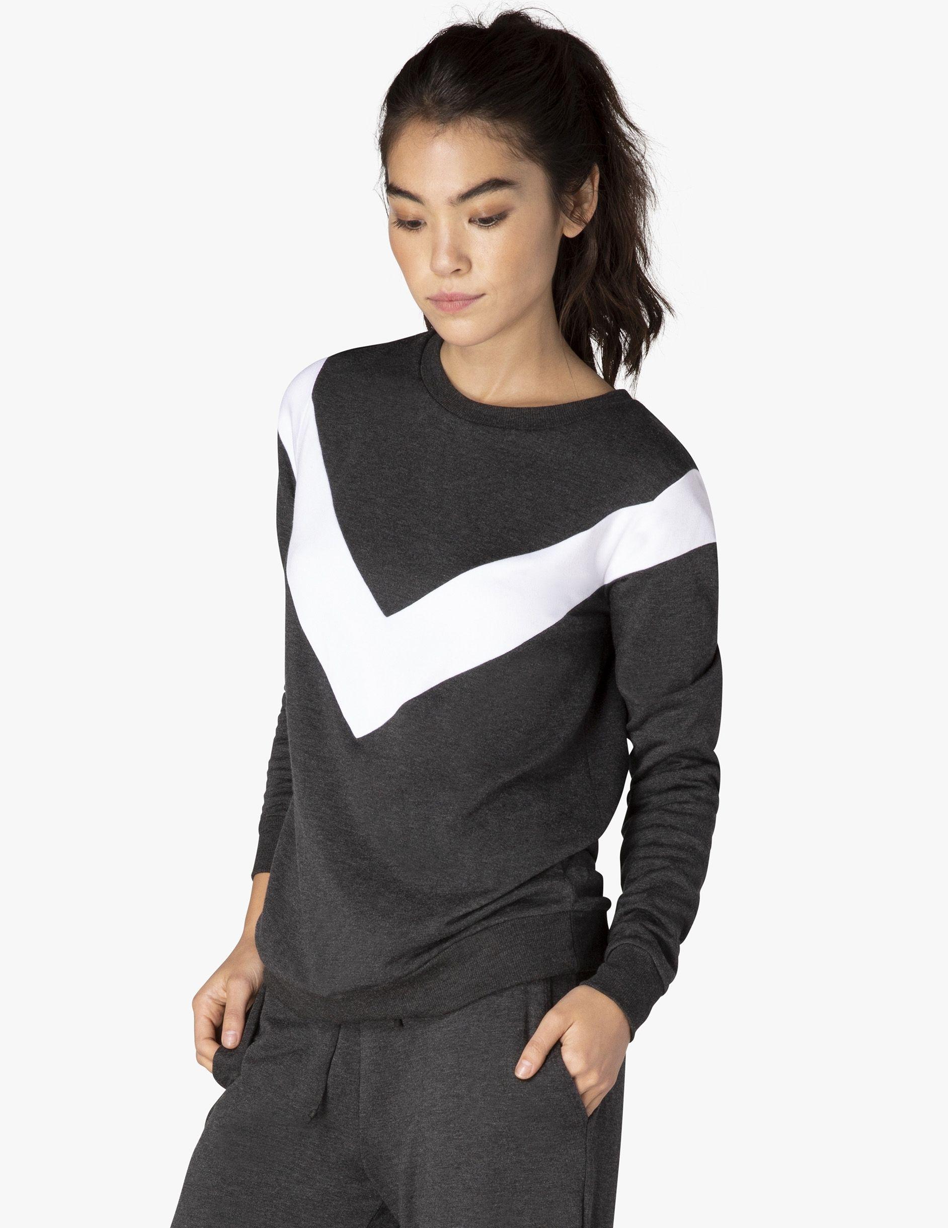 Self Chevron Pullover Pullover Fashion Tops