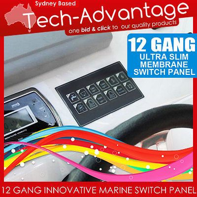 12v 12 Gang Led Switch Panel Waterproof Slim Touch Control Panel Boat Caravan Touch Control Switch Paneling