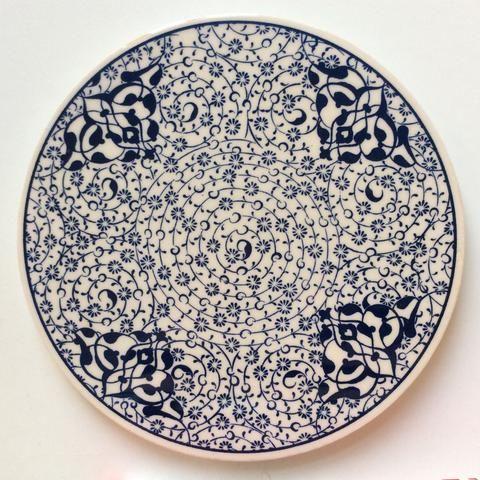 Ceramic Trivet Iznik Design Seramik Sanati Kaseler Seramik