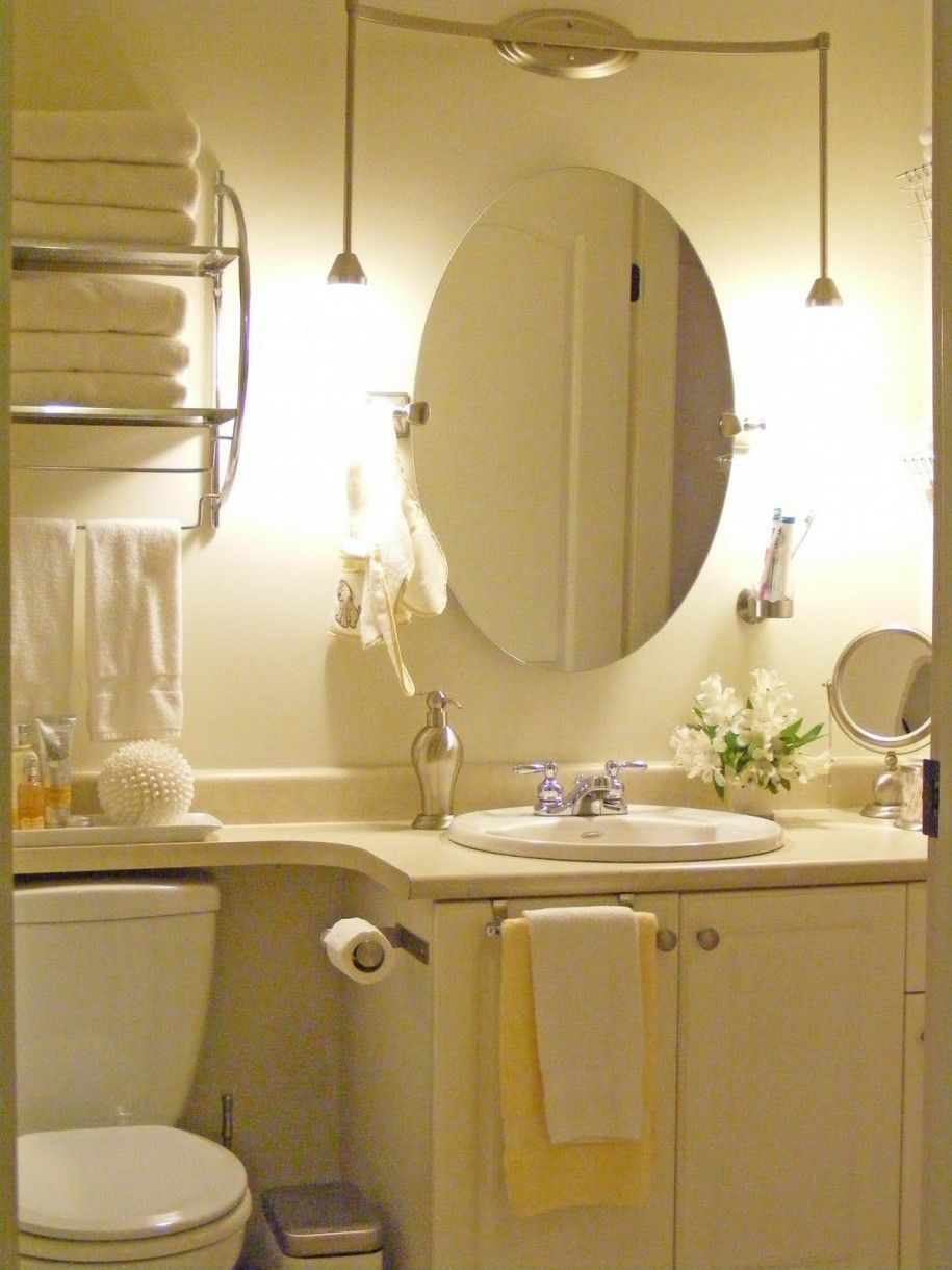 Luminious Oval Desaign For Bathroom Mirror Ideas Above White Navity Plus Small Lamp Bathroom Mirror Design Minimalist Bathroom Mirrors Oval Mirror Bathroom