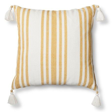 cd55a9bbb50 Sour Cream Woven Stripe Throw Pillow - Threshold™   Target