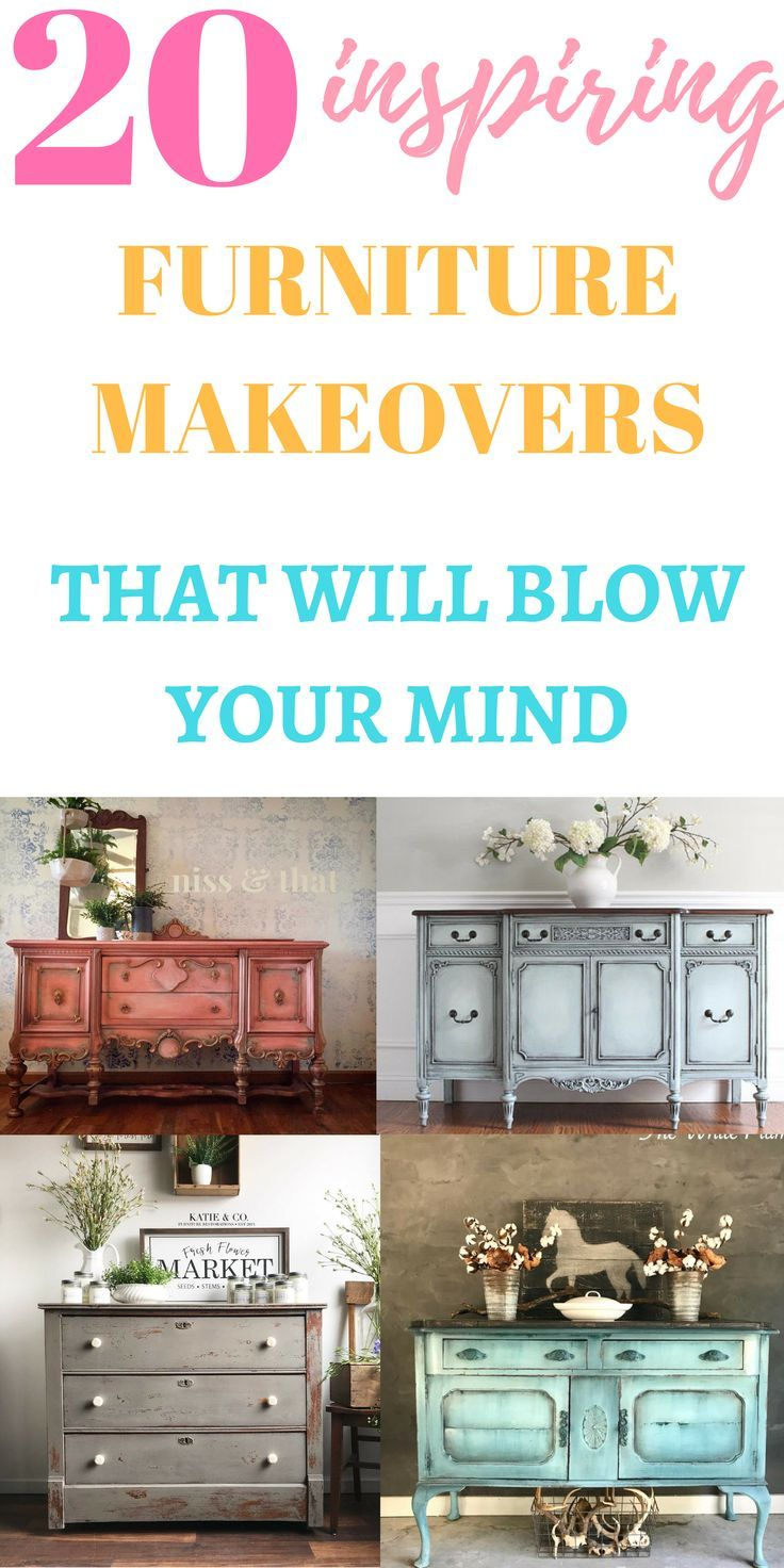 20 Furniture Makeovers That Will Blow Your Mind!  Just Life And Coffee is part of Painted furniture - This is the most stunning roundup of 20 furniture makeovers done by the most creative and talented furniture artists out there!