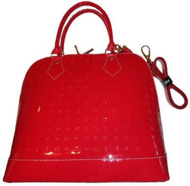 Women's Arcadia Patent Leather Purse Handbag Polo Red/Natural ...