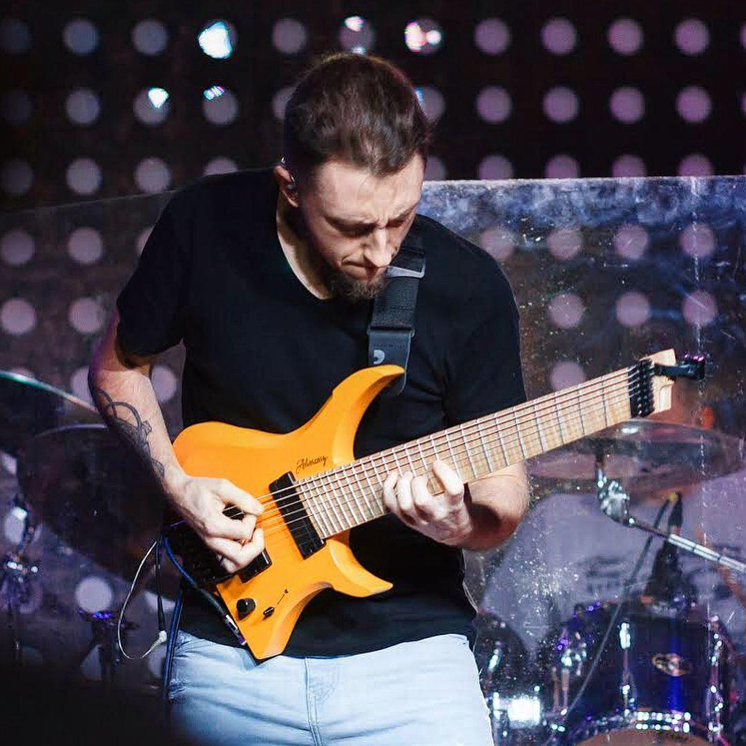 "Adversary Guitars on Instagram: ""@serggolovinguitar on tour with his eyecatching Keto 📷@andreyember #adversaryguitars #guitarporn #shred #guitarplayer #sergeygolovin"""