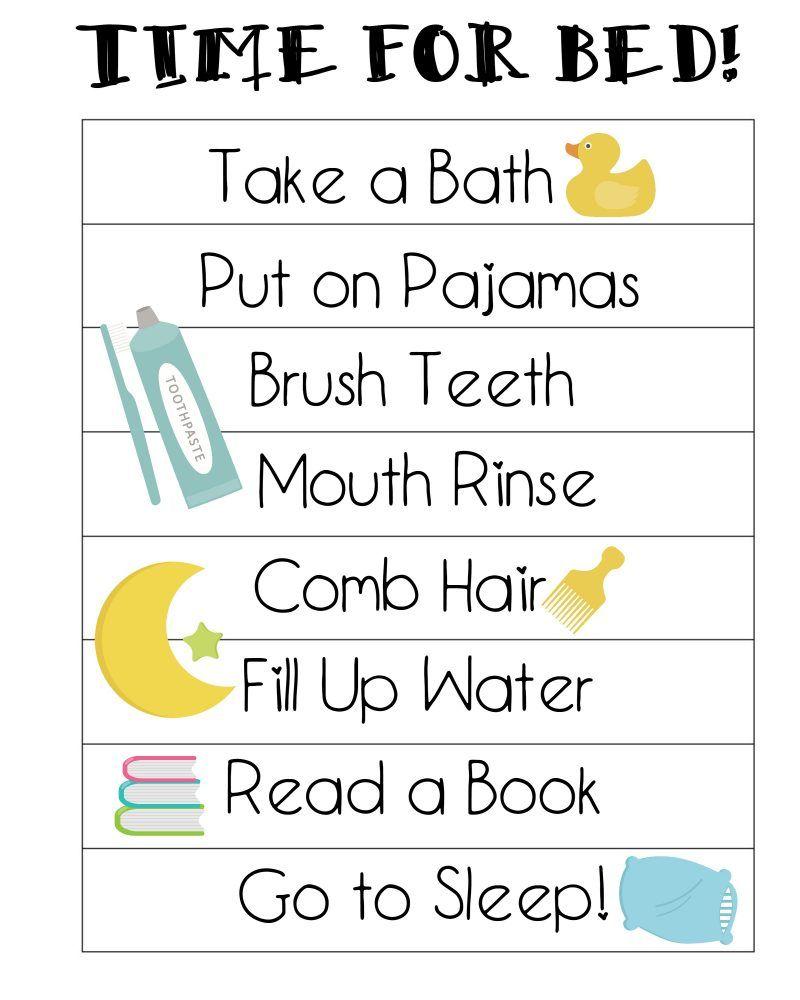 preschool bedtime routine chart free printable bedtime routines chart preschool age 961