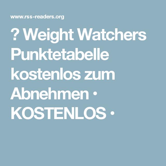 Diät nach Punkten Weight Watchers pdf