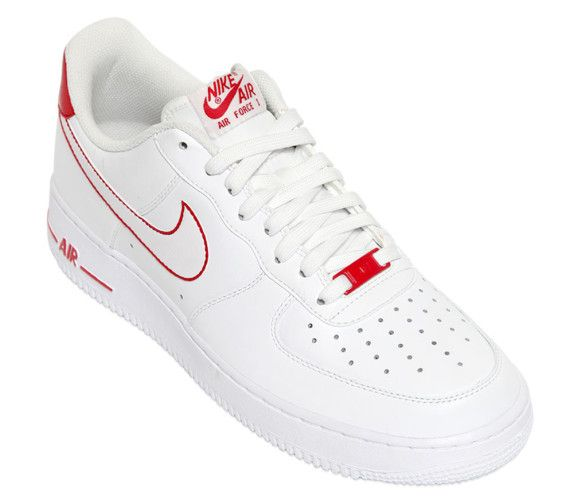 uk availability d7389 73f67 nike air force 1 low white red fall 2014 03 570x500 Nike Air Force 1 Low  White Red