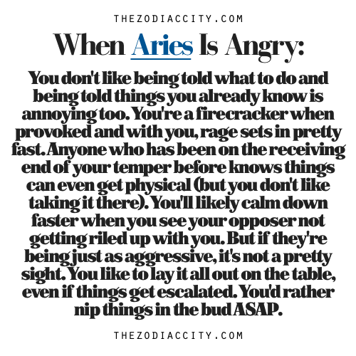 Zodiac Files: When Aries Is Angry.