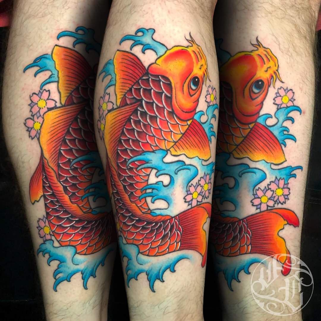 Koi fish by jonathon at inked up tattoo studio in
