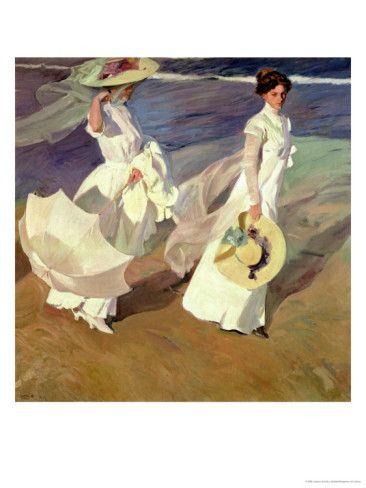 A Walk On The Beach Joaquín Sorolla Y Bastida 1909 Art Art Gallery Artist