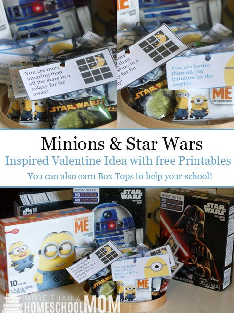 Minions and Star Wars Inspired Valentine Idea