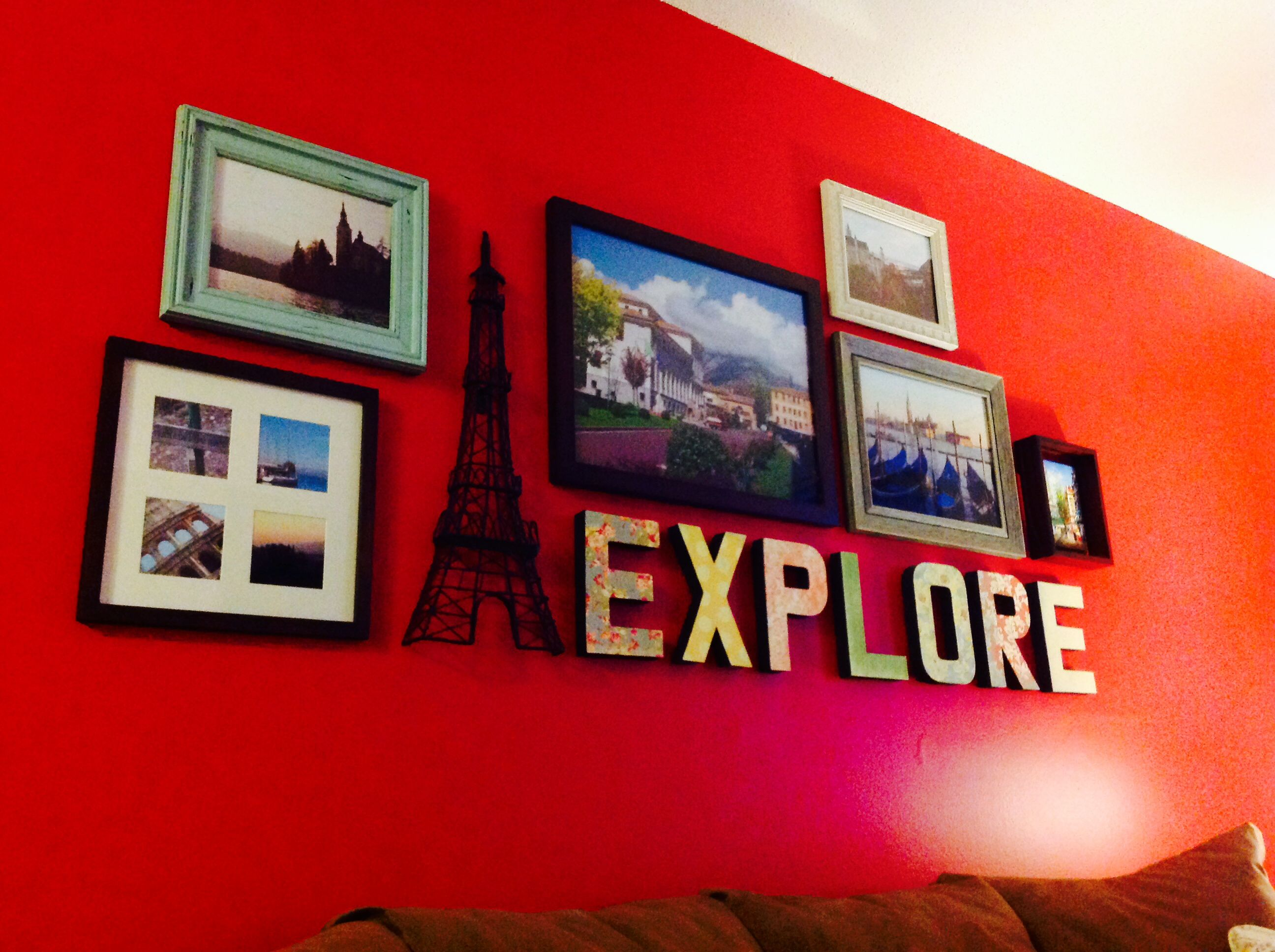 Study abroad photo collage of different #HomeGoods frames and ...