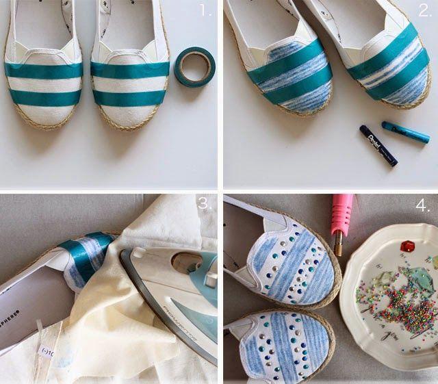 DIY - embellished canvas shoes