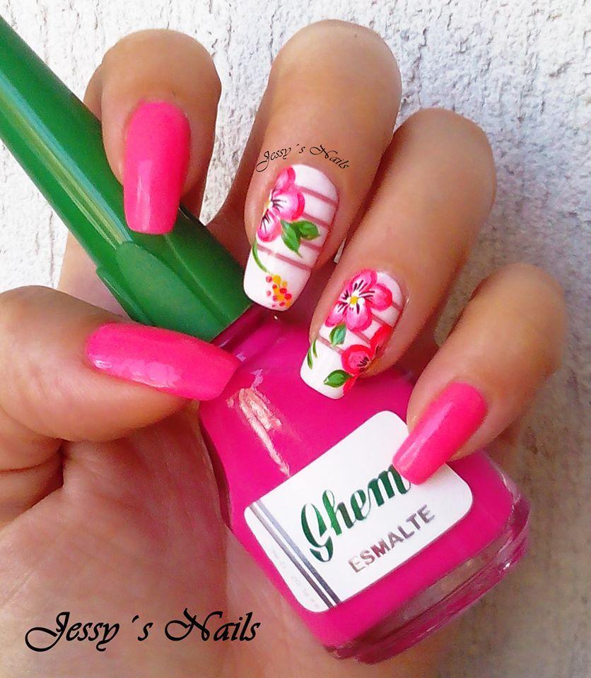 U as decoradas u as fucsia nailart pink u as bonitas u as pinterest u a decoradas - Unas bonitas decoradas ...