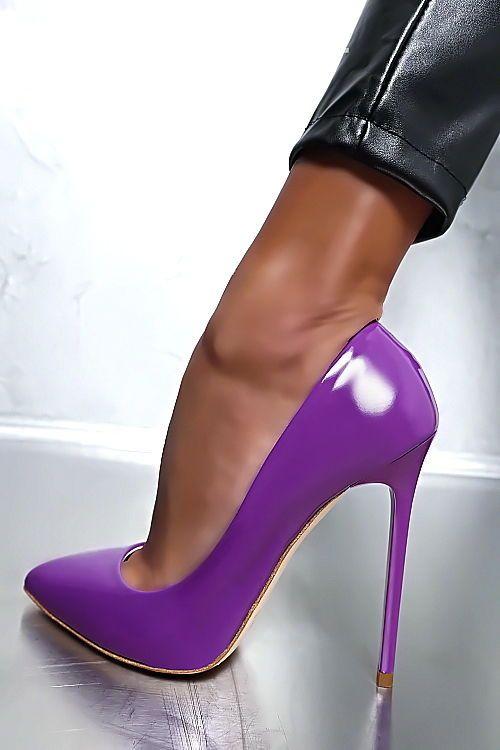 Zapatos lila Futuro Fashion para mujer xyUgZ1l