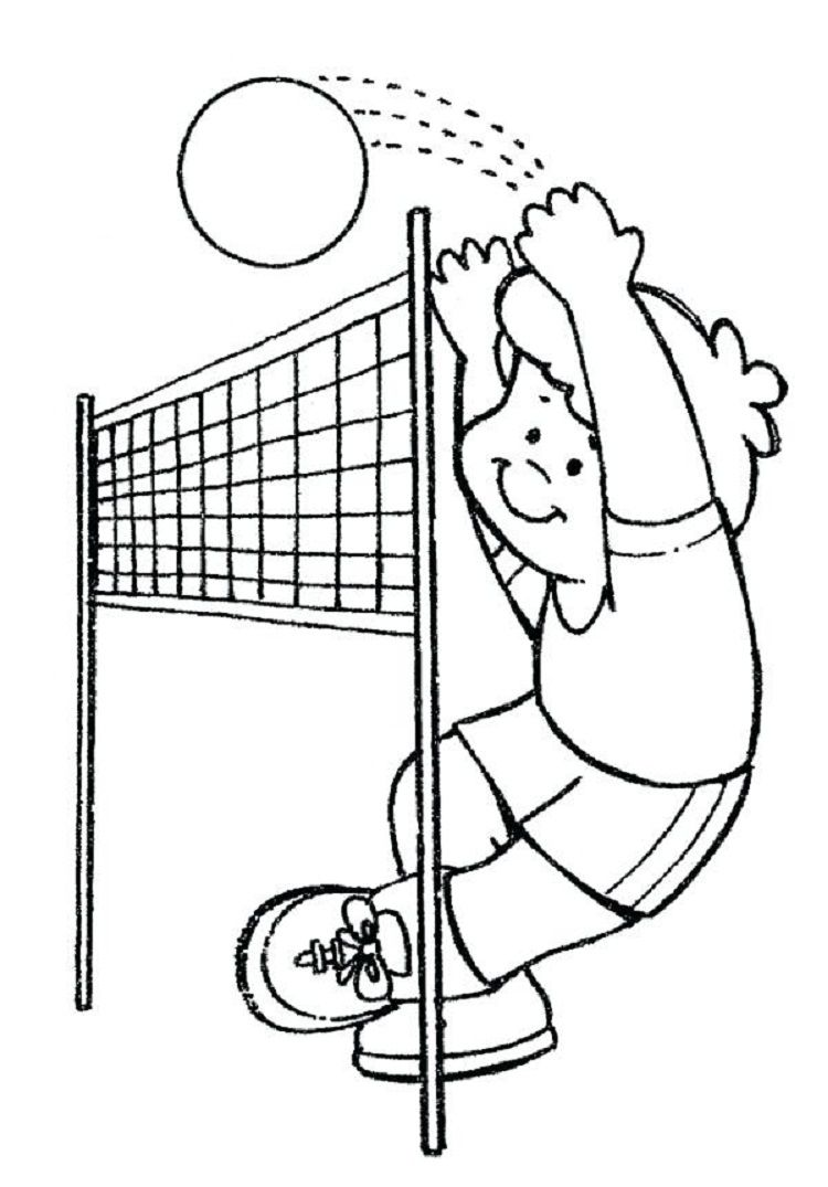 Practice Volleyball Coloring Pages Com Imagens Educacao Fisica