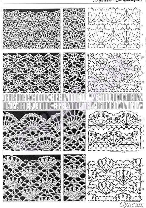 ONLY POINTS: Crochet lace points | Crochet | Pinterest | Crochet ...