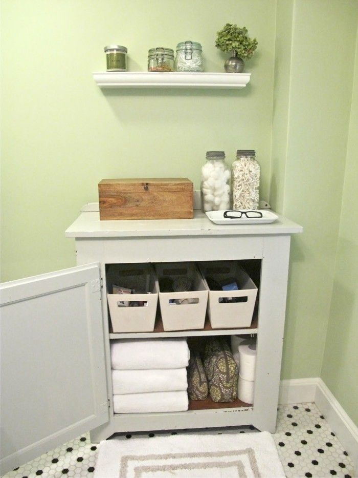 bathroom ideas photo gallery, pale green wall, floor with tiny black ...