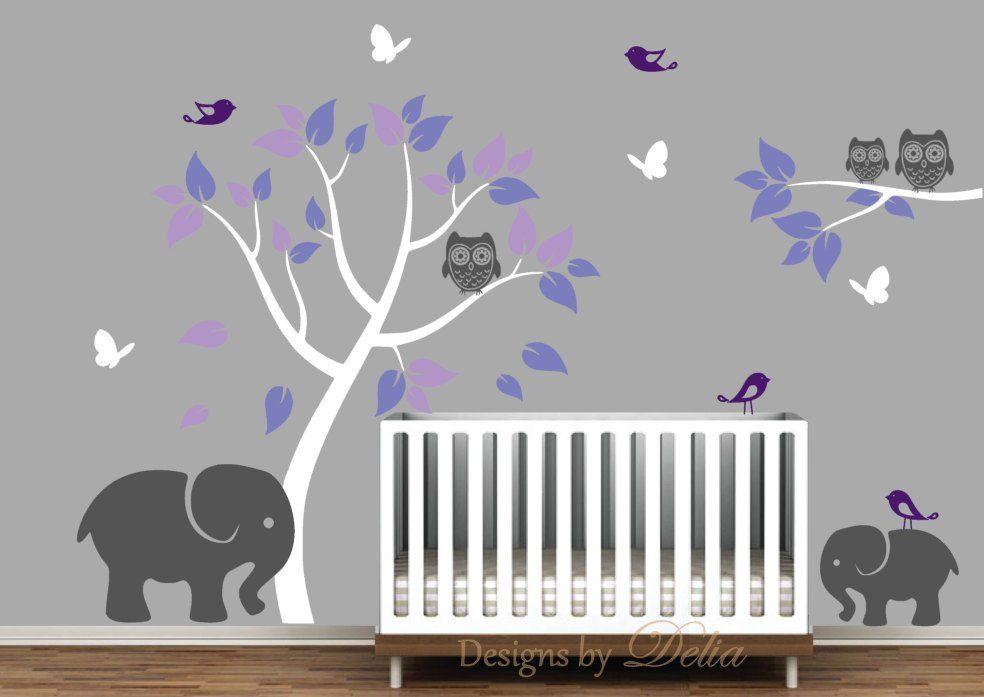 Elephants Tree Owls Birds and Butterflies Vinyl