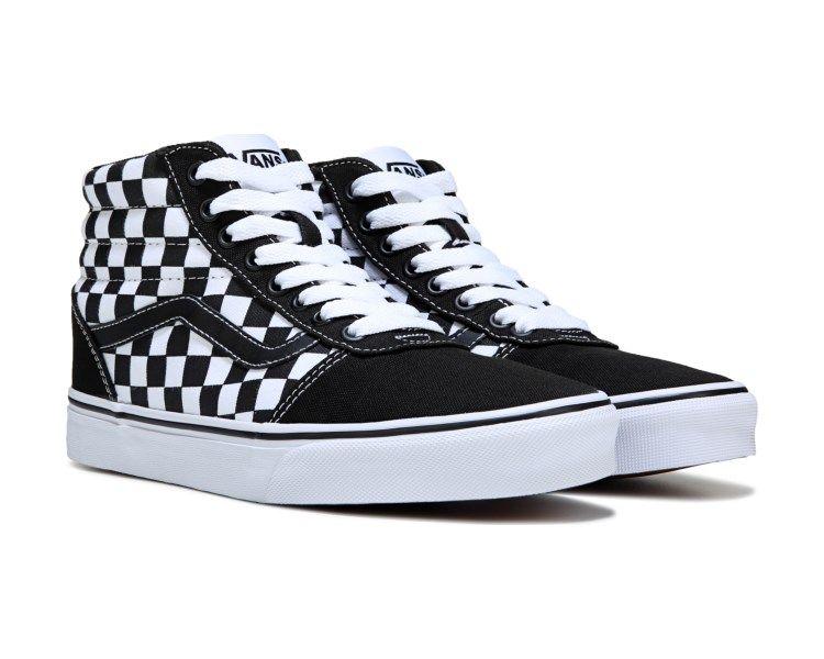vans ward hi checkerboard men's skate