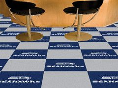 Want the ultimate Seahawks themed basement? Well you can't do it without these amazing logo carpet tiles! Check them out. $180 with free shipping.