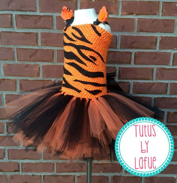 afff54c97e Tiger/Tigger/Cat Halloween Costume Tutu Dress | Costumes | Tutu ...