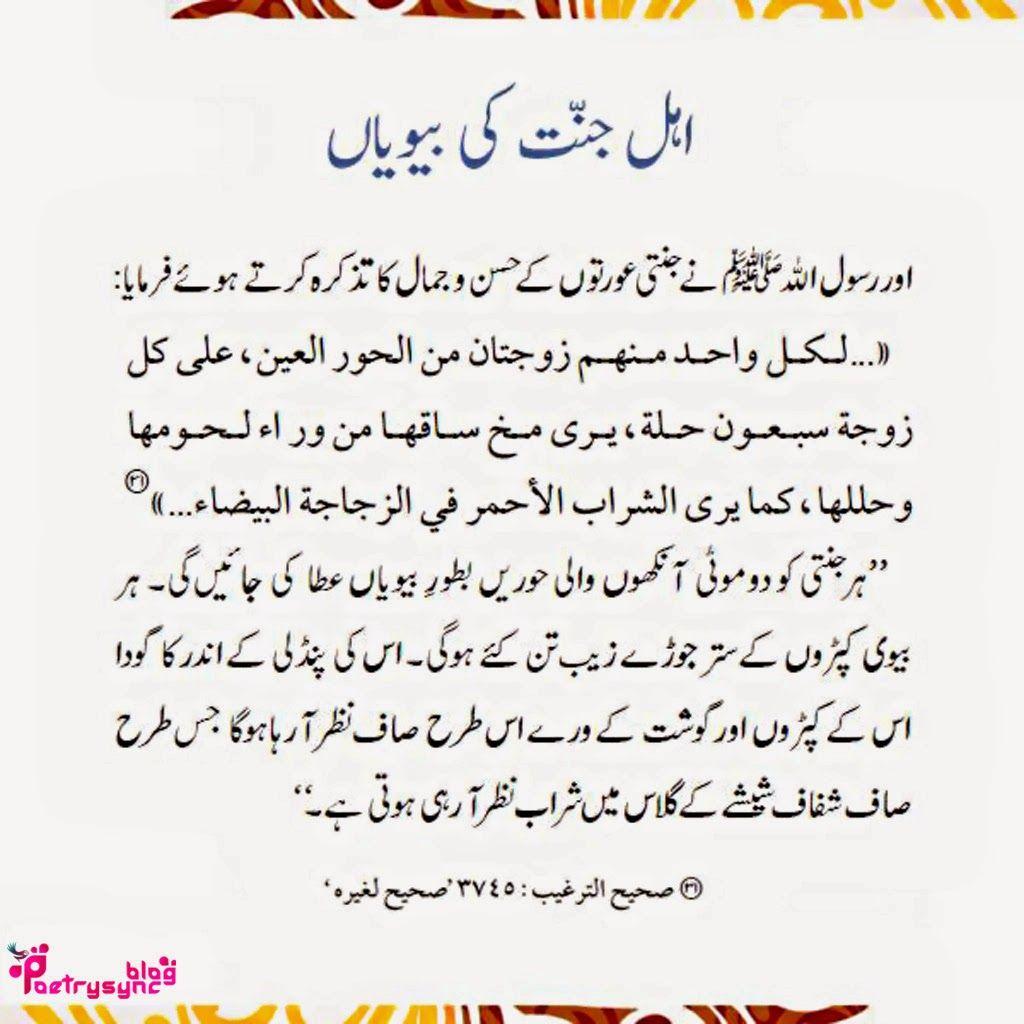 Jannat ke bary me Hadees/hadeth aur Qurani Ayaat urdu photos