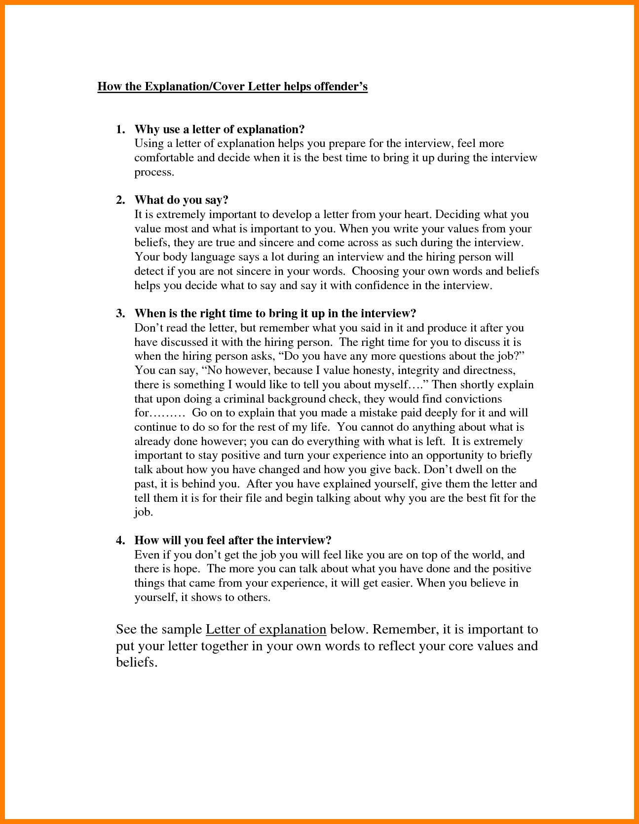Write Letter Explanationedit Explanation Sampleg Examples Letters