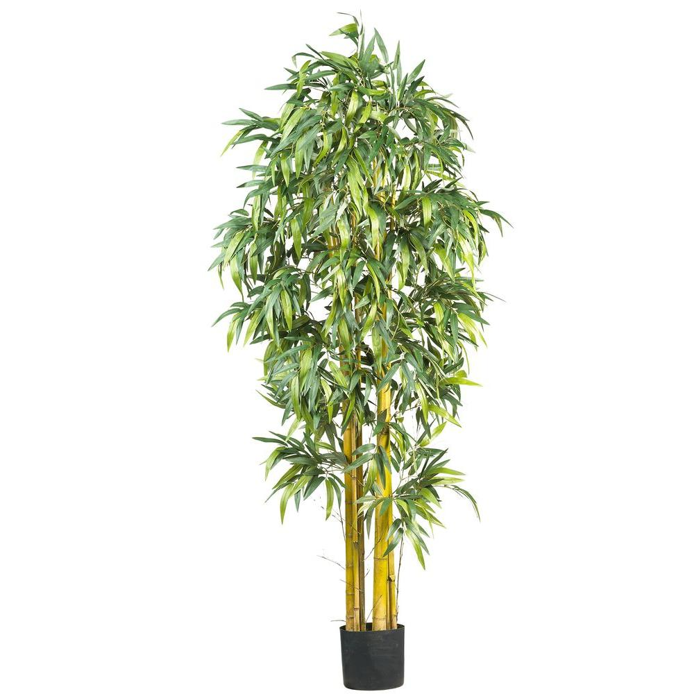 Nearly Natural 6 Ft Silk Bamboo Tree 5190 Bamboo Tree Potted