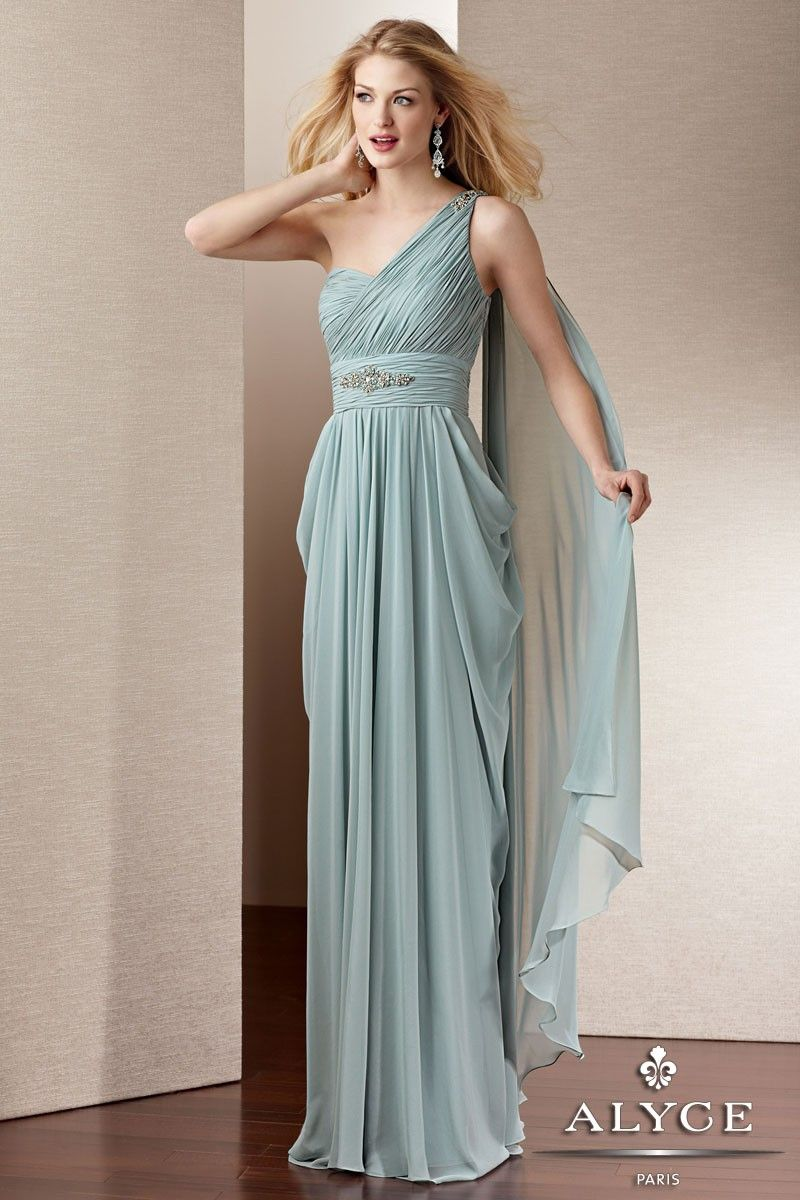 Grecian Inspired Single Shoulder Chiffon Evening Gown 29545 from ...
