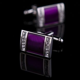 Purple Crystal Centered Cufflinks for $58.99